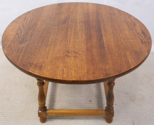 Antique Style Round Oak Coffee Table - SOLD